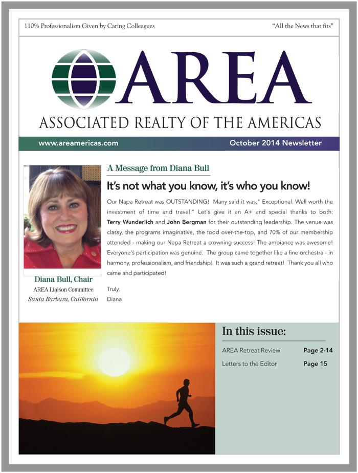 AREA October Newsletter
