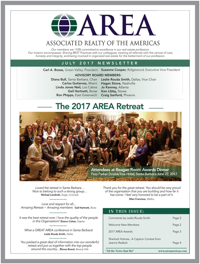 AREA July 2017 Newsletter